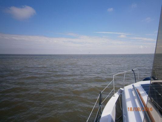 auf der Nordsee Melum Kurs auf Spiekeroog