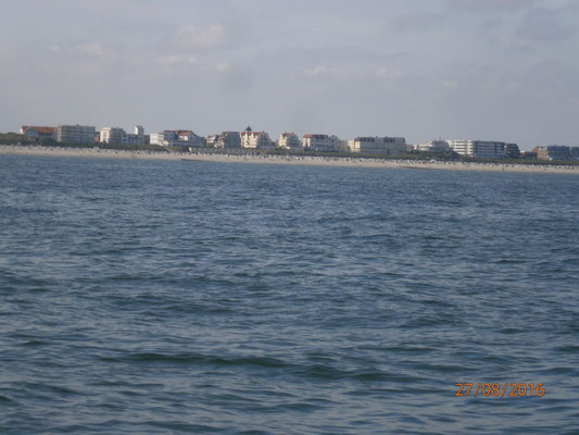 Wangerooge von der Seeseite