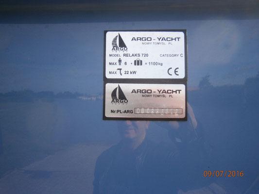 Argo Yacht Relax 720 Argo Yacht Relaks B-720