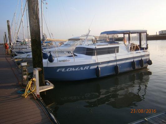 Ankunft im Sportboothafen von Spiekeroog