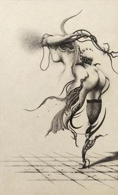 """""""La Danse Macabre""""<br>エッチング、雁皮刷り<br>25×15.2cm/ED.30"""