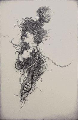 """""""Hesperus""""<br>エッチング、雁皮刷り<br>43×28.5cm/ED.20"""