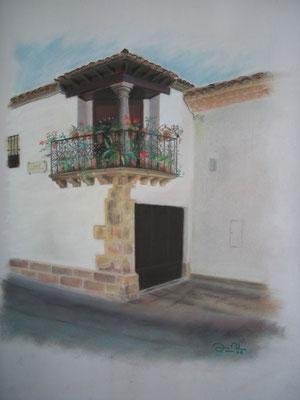 BALCON DE BAEZA - Pastel sobre papel Canson - 2006