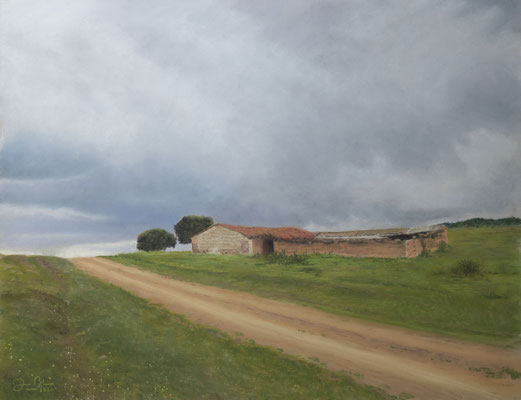 CAMINO DEL ESTRECHO DE LAS HOCES - Pastel sobre papel Canson Mi Teintes Touch (58 x 42) - 2020