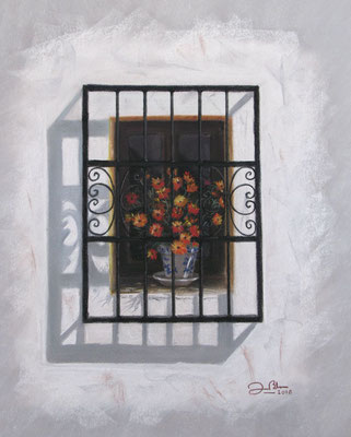 VENTANA DE ALTEA - Pastel sobre papel Canson - 2010
