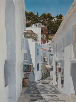 FRIGILIANA - CALLE REAL - Pastel sobre papel Canson (45 x 60) - 2019