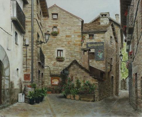 RESTAURANTE EL DUENDE EN TORLA (Huesca) - Pastel sobre papel Canson (44 x 36) - 2016