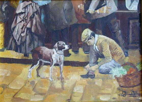 ESCENA 2 - Version sobre un cuadro de Joaquin Mir - Oleo