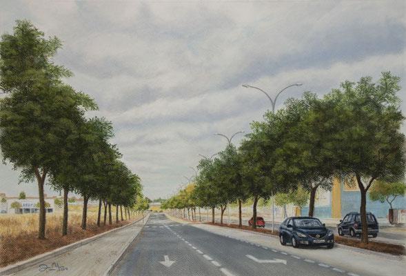 AVENIDA DE LA CIENCIA - Pastel sobre papel Canson (56 x 38) - 2019