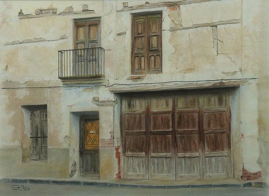CASA EN RUINAS (Cella - Teruel) - Pastel sobre papel Canson (57 x 42) - 2014