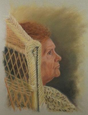RETRATO DE MI MADRE - Pastel sobre papel Canson ( 37 x 49) - 2013