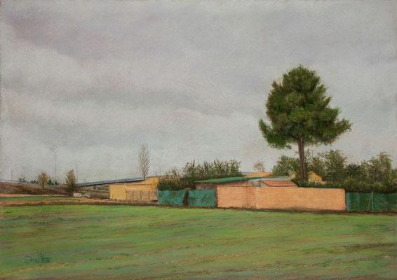 LA CASA DEL PUENTE - Pastel sobre tabla (70 x 50) - 2019