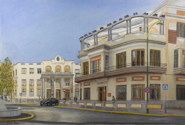 EMISORA E INSTITUTO DE SANIDAD CIUDAD REAL - Pastel sobre papel Canson (58 x 38) - 01/2021 (En venta)
