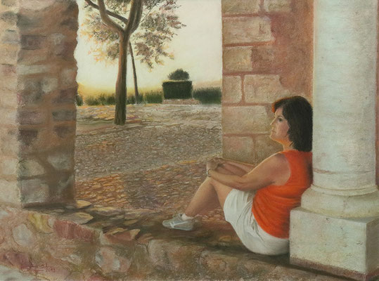 GRACI EN ALARCOS - Pastel (53 x 39) - 2012