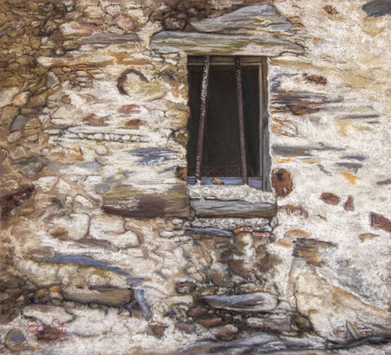 LA VENTANA - Pastel sobre papel Canson (44 x 40) - 2020