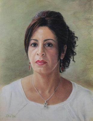 RETRATO DE KHADIJA (Marisa) - Pastel sobre papel Canson (41 x 51) - 2014