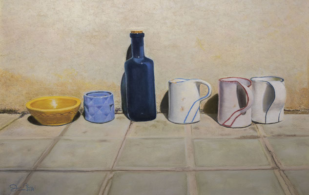 BODEGON URBANO - Pastel sobre papel Canson (58 x 40) - 09/2020