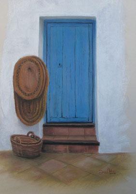 PUERTA DE FRIGILIANA - Pastel sobre papel Canson - 2010