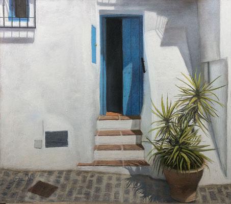 CALLE DE FRIGILIANA - Pastel sobre tabla HD (60 x 52) - 2019 (En venta)