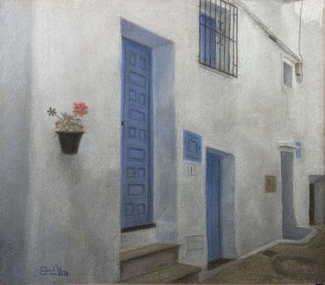 PUERTAS AZULES DE FRIGILIANA - Pastel sobre tabla HD (60 x 52) - 2019