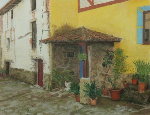 PASARON DE LA VERA (Cáceres) - Pastel sobre papel Canson (52 x 40) - 2011 (En venta)
