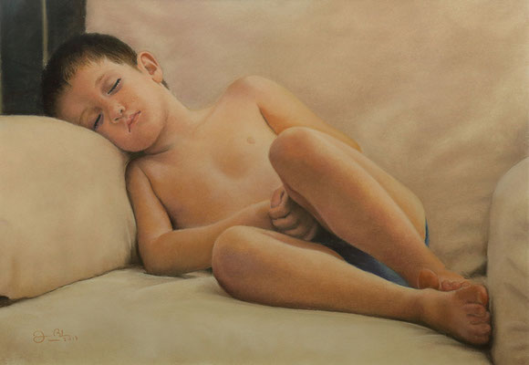 JORDAN DORMIDO - Pastel (56 x 38) - 2017