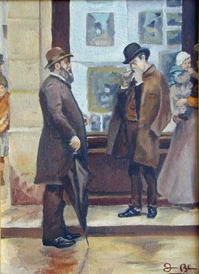 ESCENA 1 - Version sobre un cuadro de Joaquin Mir - Oleo