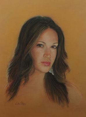 RETRATO DE MI HIJA MARIA DE GRACIA - Pastel sobre papel Canson (45 x 57) - 2011