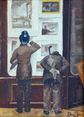 ESCENA 3 - Version sobre un cuadro de Joauin Mir - Oleo