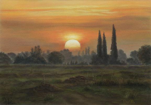 AMANECER - Pastel (47 x 33) - 2013