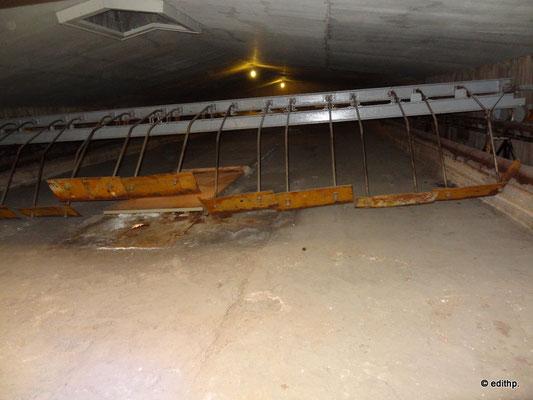 Letzte erhaltene Siedepfanne. Sie ist 20 m lang und 8 m breit.