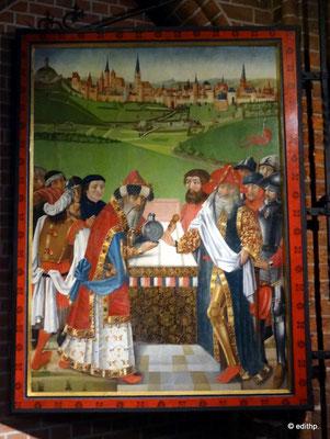 Altarbild Begegnung von Abraham und Melchisedek