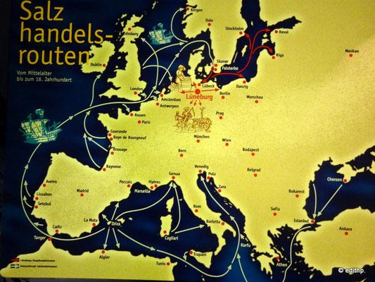 Salzhandels-Routen bis 1600