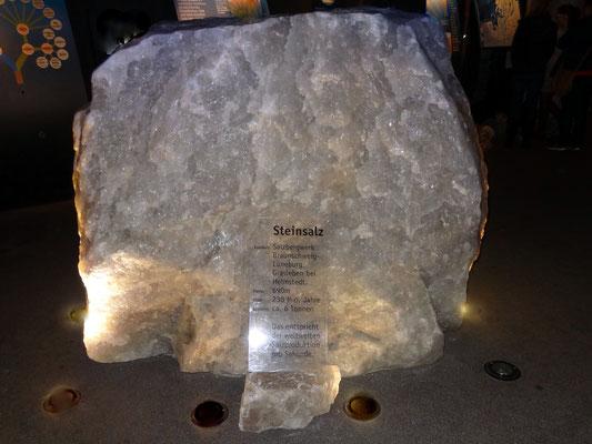Steinsalzklumpen, ca. 230 Millionen Jahre alt und 6 Tonnen schwer