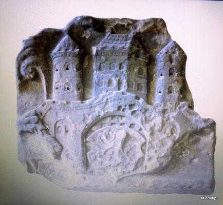 Stadtwappen aus Sandstein