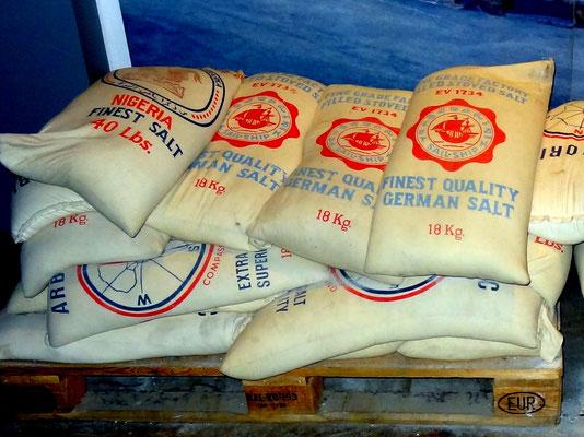 die letzten Salzsäcke gingen nach Afrika