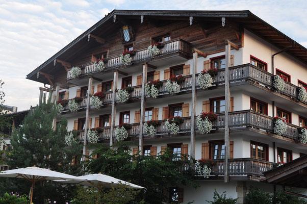 Ankunft bei unserem Hotel in Grassau