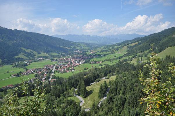 Blick vom Oberjochpass