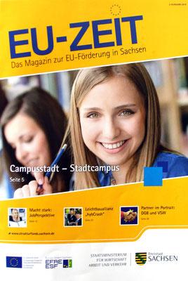 EU Zeit das Magazin der EU Förderung in Sachsen