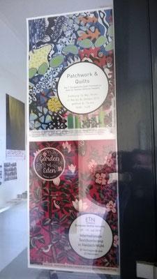 Plakate zur Quilttriennale und ETN Konferenz / Textile Kultur Haslach Österreich