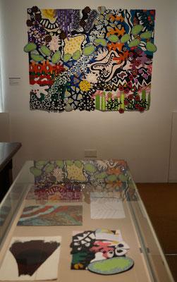 Blick auf meinen Kunst Quilt  in der Ausstellung der  7. Quilttriennale 2018