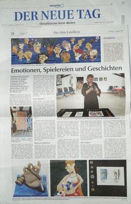 Presse  zur Ausstellung UNIKATE - Knopfkunst und Kunstquilt im Deutschen Knopfmuseum Bärnau
