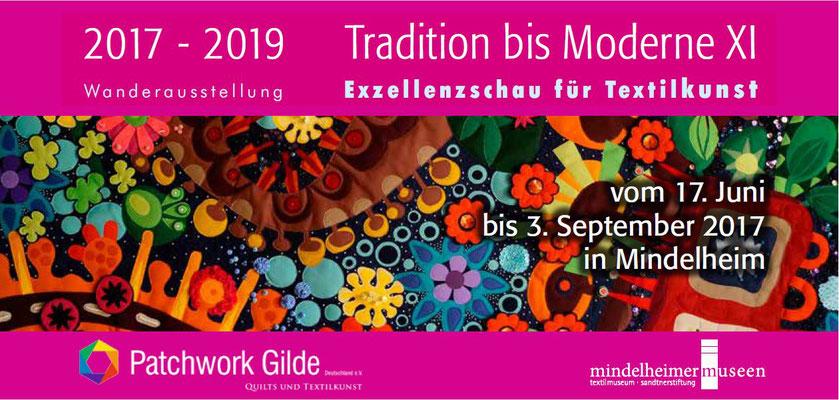 Einladungskarte Mindelheimer Museen zur Ausstellung: Tradition bis Moderne XI / Karte zeigt Ausschnitt des Bildes: Virtual Reality von Jutta Kohlbeck