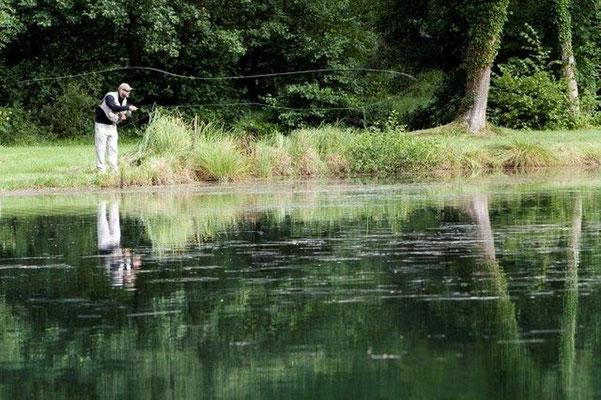 Pêcheur solitaire dans la nature meusienne.