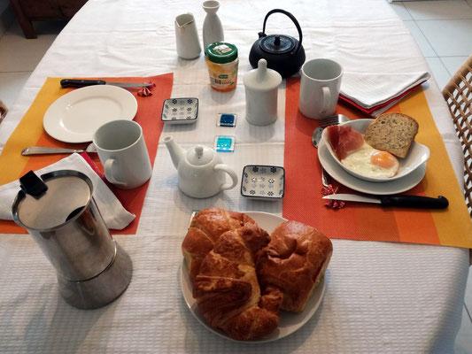 Un exemple de petit déjeuner parmi d'autres.