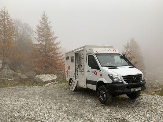 Auf 1'700 müM Alpes Maritimes France / Abends kam der Nebel