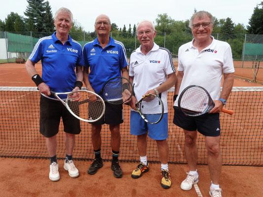 Bad Lauterberger Senioren von lks.: Klaus-Dieter Jahn, Werner Koch, Jürgen Breitenstein (MF) und Peter Lehnen