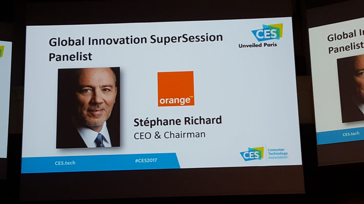CES Las Vegas 2017 - Stéphane Richard - Orange