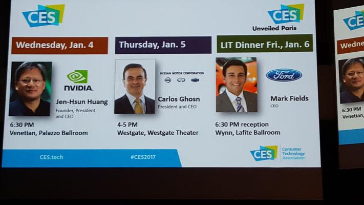 CES Las Vegas 2017 - Carlos Ghosn - Renault