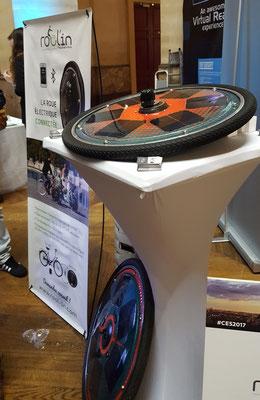 CES Unveiled Paris -  Rool'in  - roue motric solaire